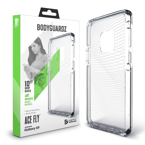 BodyGuardz Ace Fly Unequal Case for Samsung Galaxy S9 - Clear